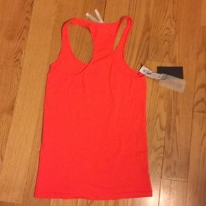 Aritzia neon poppy red tank top, sz L